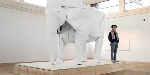 Huge Origami Elephant