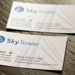 Sky Tower Business Cards